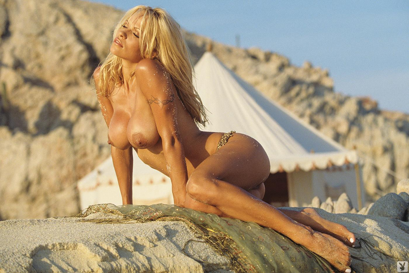 pamela anderson nude on the beach