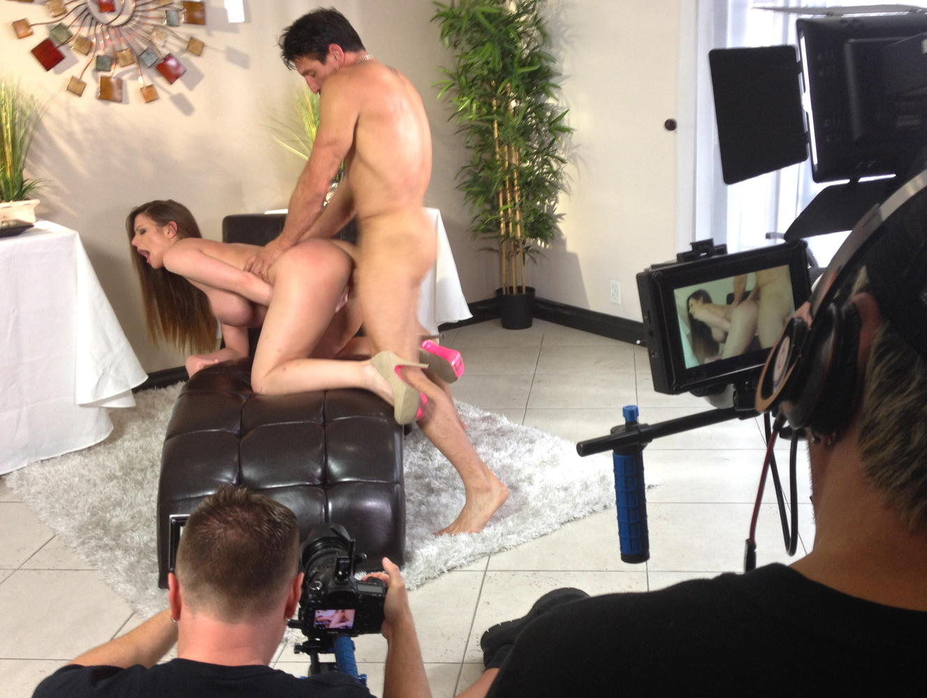 behind the scenes of a porn movie