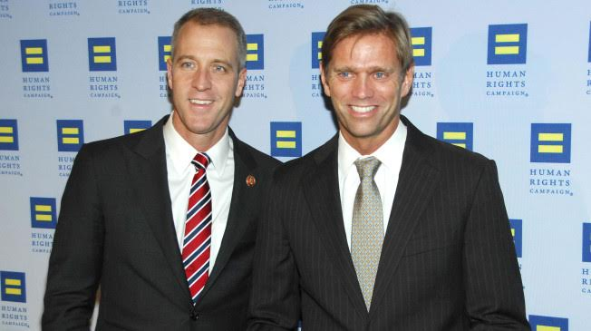 Sean Patrick Maloney, Randy Florke - February 2, 2013 - The Human Rights Campaign of Greater New York held at Waldorf Astoria, NYC. Photo Credit: Owen Hoffmann/PatrickMcMullan.com/Sipa USA (Sipa via AP Images)