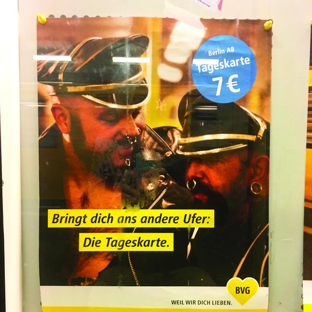 LVDX - GAY - TOURISME - Berlin - Visuel (5) - Même le métro se la joue cuir (c) Julien Calza