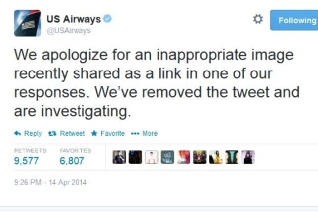 LVDX - US 27 - Tweet porno pour US Airways (Un) - Visuel (3) - Tweet d'excuse
