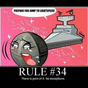 Règle #34 de l'Internet : si ça existe, on en a fait du porno