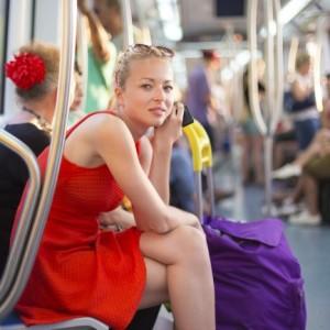 Baiser dans les transports en commun
